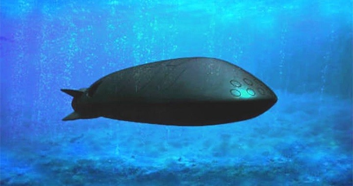 Предполагаемый образ боевого подводного беспилотника «Цефалопод».