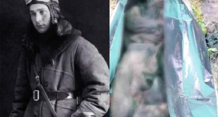 Поисковики нашли идеально сохранившееся со времен Войны тело советского летчика.