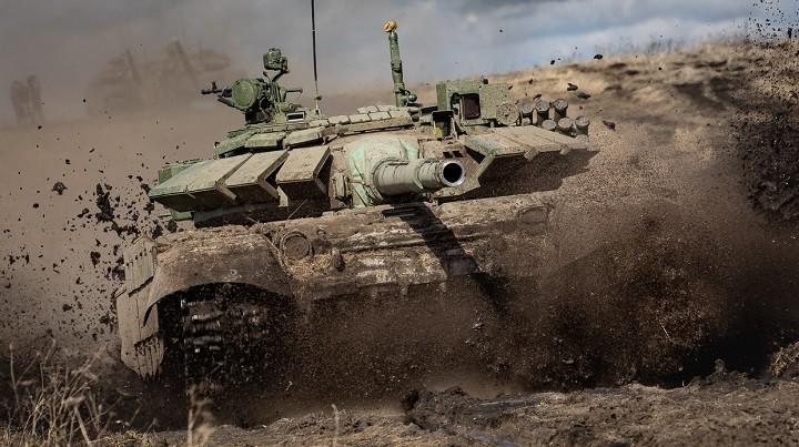 Танк Т-72Б3М на боевом выходе.