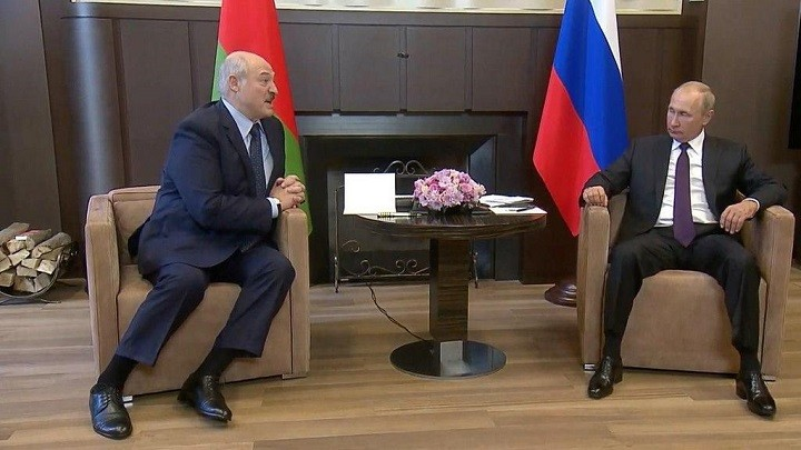 Президент Белоруссии Александр Лукашенко и президент России Владимир Путин.