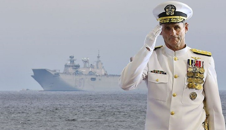 Командующий 2-м флотом ВМС США вице-адмирал Эндрю Льюис.