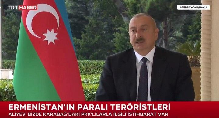 Алиев признает помощь Турции в войне и настаивает на включение ее в переговоры