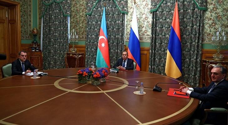 Переговоры по Нагорному Карабаху в Москве 09.10.2020 года.