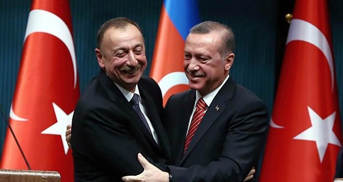 Президент Азербайджана Ильхам Алиев и президент Турции Реджеп Эрдоган.