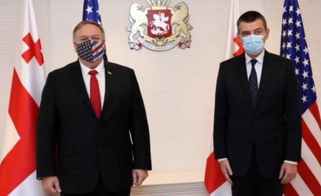 Премьер-министр Грузии Георгий Гахария с госсекретарем США Майком Помпео. Фото: gov.ge