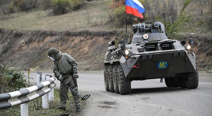 Миротворцы России полностью очистили от мин дорогу из Карабаха в Армению