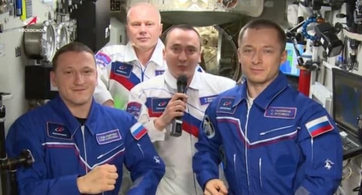 Космонавты с МКС поздравили Россию с юбилеем полета Юрия Гагарина