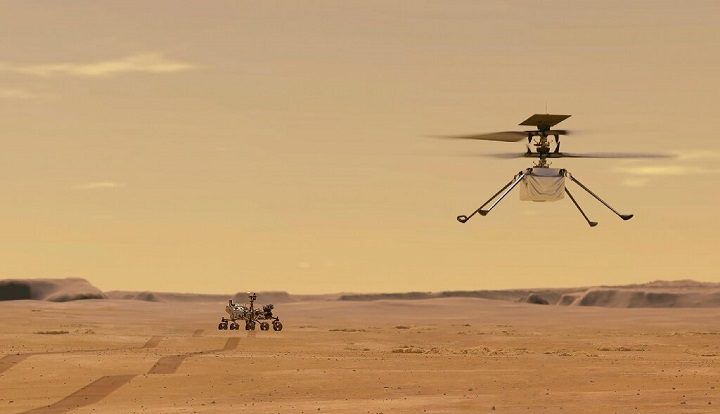 Первый полет вертолета на Марсе