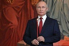 Путин поздравил православных с Пасхой