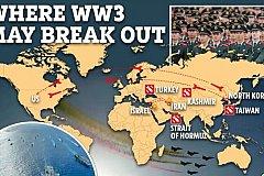 Обозначены места начала третьей мировой войны