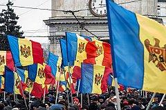 Сторонники объединения Молдавии с Румынией митингуют в Кишиневе