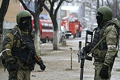 Вооруженные боевики блокированы силовиками в Хасавюрте