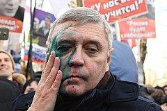 На «Марше Немцова» Касьянова облили зеленкой