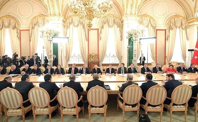 Заседание Совета сотрудничества высшего уровня между Россией и Турцией. Фото:  kremlin.ru