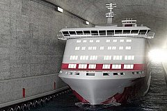 В Норвегии намерены построить первый в мире судоходный туннель