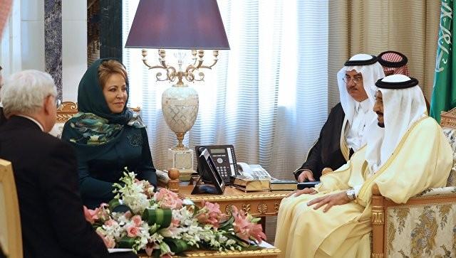 Матвиенко на встрече с королем Саудовской Аравии. Фото:  ria.ru