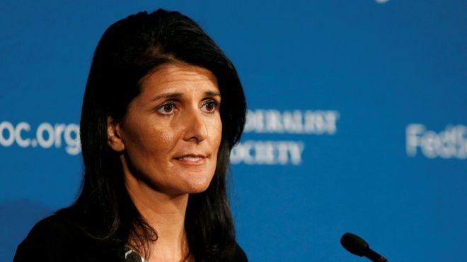Постпред США при ООН Никки Хейли. Фото: BBC.com