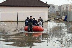 Паводок из Казахстана движется в Россию