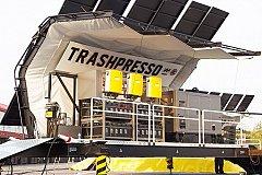 Trashpresso — первый в мире мобильный завод по переработке мусора
