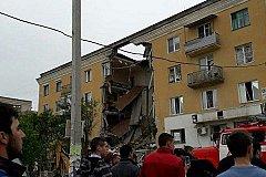 Мощный взрыв разрушил часть жилого дома в Волгограде