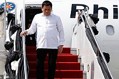 В Москву прибыл президент Филиппин Родриго Дутерте