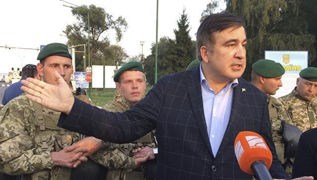10 сентября 2017 Михаил Саакашвили на контрольно-пропускном пункте Шегини на украинско-польской границе. Фото: ria.ru