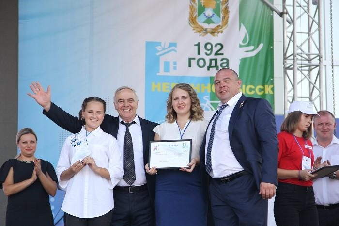 Путевка в студенческую жизнь - (слева направо) Дарья Шабанова, С.В. Фролко, Татьяна Казарян, М.А. Миненков
