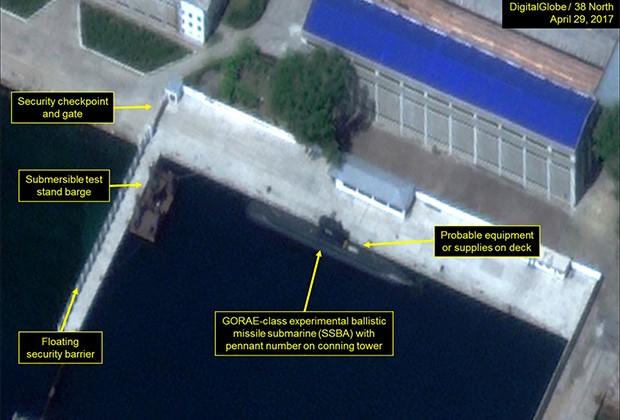 Северная Корея строит огромную подлодку