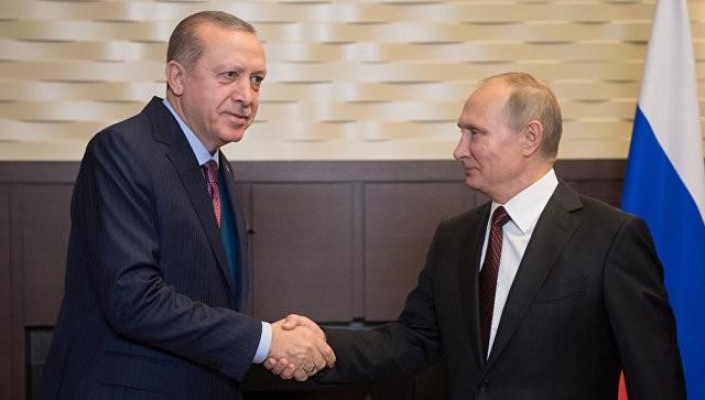 Президент РФ Владимир Путин и президент Турции Реджеп Тайип Эрдоган во время встречи 13.11.2017. Фото: ria.ru