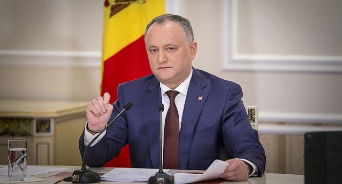 Президент Молдавии Игорь Додон. Фото: Sputnik Молдова