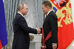 Путин наградил Миллера Орденом за заслуги перед Отечеством I степени