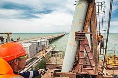 Завершена установка всех опор автодорожной части Крымского моста