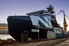 Начаты швартовные испытания океанографического исследовательского судна «Академик Александров»
