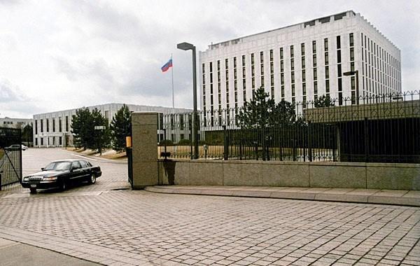 Площадь перед посольством России в Вашингтоне. Фото:  obozrevatel.com