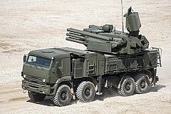 Израильская ракета уничтожила российский ЗРПК «Панцирь-С1». ВИДЕО