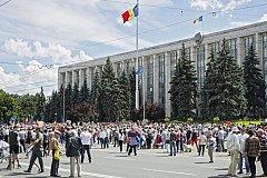 Митинг в Кишинёве. Жители требуют признать итоги их выбора