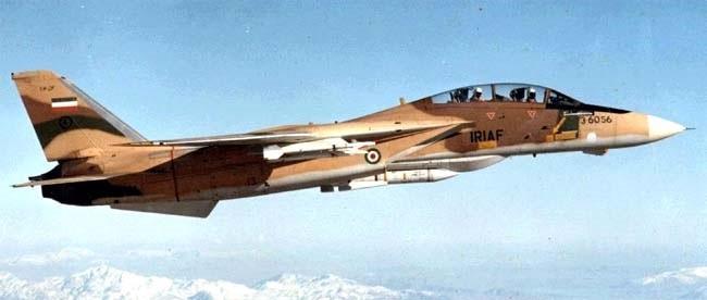 Иранский F-14A «Tomcat», оснащённый американскими ракетами AIM-54A «Феникс»