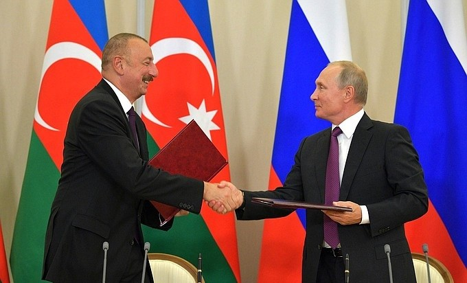Ильхам Алиев и Владимир Путин на встрече в Сочи. Фото: kremlin.ru