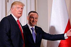 Дуда молит США создать базу в Польше и готов назвать ее «Форт Трамп»