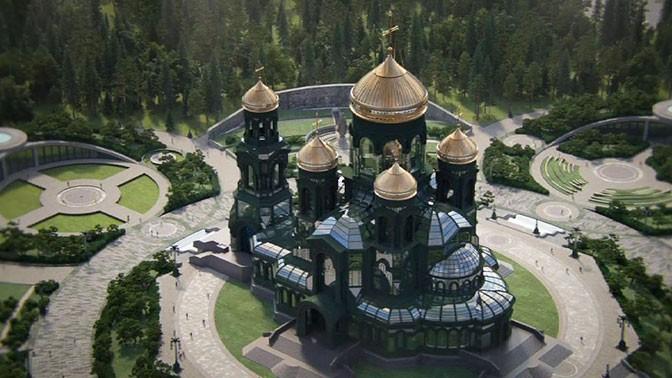 Модель главного храма Вооруженных сил РФ