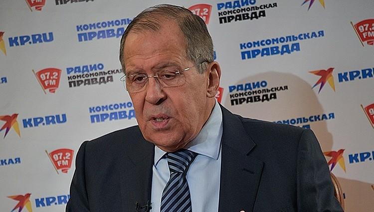 Сергей Лавров отвечает на вопросы «Комсомолки». Фото: youtube.com