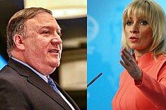 Захарова: «спасибо» Помпео за слова о Голанах и Крыме