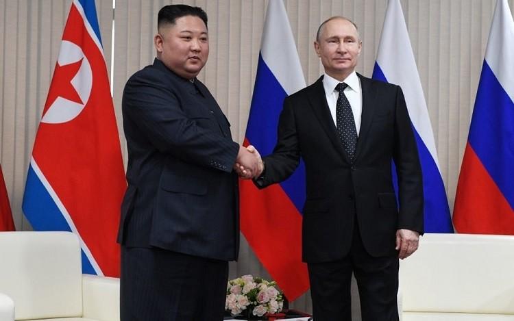 Ким Чен Ын и Владимр Путин. Фото: rg.ru