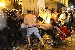В Тбилиси радикалы сорвали работу Генассамблеи православия и устроили беспорядки